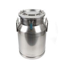 30Loil Barrel Stainless Steel Milk Cans Pail Bucket Jug tea Canister Beer Bucket