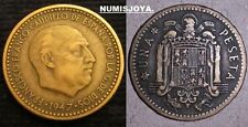 ESTADO ESPAÑOL FRANCO moneda de 1 Peseta año 1947*1950. FECHA ESCASA CIRCULADA.