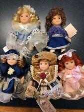 Cameo Kids Dolls 2.5 Inch Miniatures Porcelain Posable Arms Legs Set/5 New! (10)