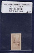 WHIP WILSON 1948 Topps Magic Photos Hocus Focus Movie Stars #42J R714-27 (42J1