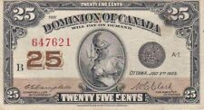 1923 Canada 25 Cents Fractional Note, Pick 11c