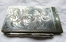 More details for a lovely vintage continental silver notepad / aide memoire