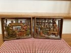 2 Vintage Burwood Products Wall Plaques ?At The Hearth? & ? Candle Making?