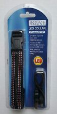 """LED Illuminated Dog Collar with USB Rechargeable Battery and USB Cord 12""""-16"""""""