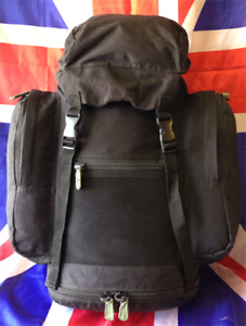 Genuine British Army Black Deployment 30L Day Bergen Rucksack Pack GRADE 1