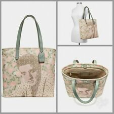 COACH TOTE WITH FLORAL ELVIS™ F25880  SILVER/CHALK MULTI *LiMiTeD EdItIoN*