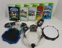 Xbox 360 Skylanders Game Lot Bundle - 5 Games, 3 Portals
