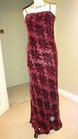 Stunning MONSOON Silk Blend Velvet Devore Maxi Dress Size UK 12, EU 40