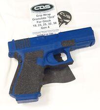 "Glock 19 23 32 38 Gen 4 Granulate ""Grit"" Premium Grip Wrap Tape- Enhancement"