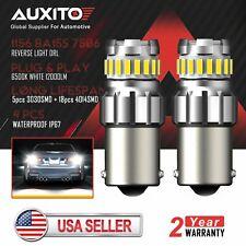 2X AUXITO 1156 BA15S 7506 LED Backup Reverse Lamp Light 6500K White Canbus Bulb