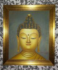 Buddha Ölgemälde Bild China Picture signiert oil Painting Chinese Leinwand
