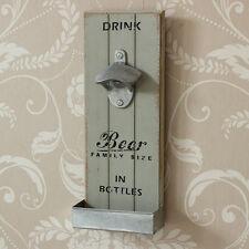 Retro parete apribottiglie a Casa Bar Cucina Shabby Chic Vintage Regalo Grigio
