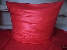 Bettwäsche Satin Viscose Satin einfarbig Farbe Rot Größe 135 cm x 200 cm Neu