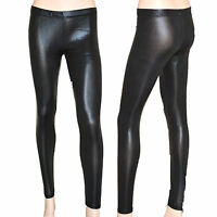 LEGGINGS NERI donna leggins pantaloni pantacollant fuseaux skinny aderente S2