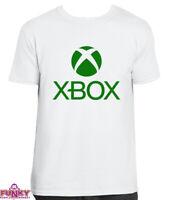 XBOX T-SHIRT Top Gamer Gaming logo cult retro Adult kids White T-Shirt