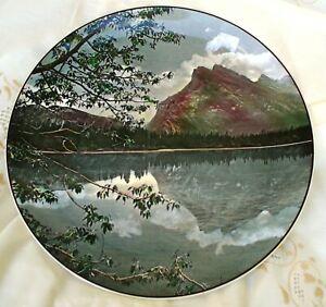 Vintage Royal Doulton Vermillion Lake & Mount Rundle Banff Nat Park Plate