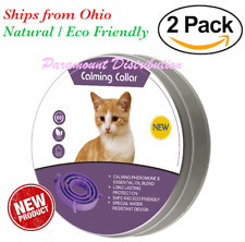 2 Pack Cat Calming Collar - Pheromone & Essential Oils : Behavior Stress Anxiety
