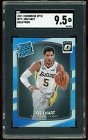 2017-18 Donruss Optic Holo Silver #171 Josh Hart RC SGC 9.5 = PSA 10? MINT+