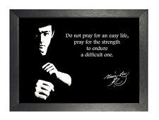 Bruce Lee 19 Schauspieler Poster Motivation Zitat Anzu Strong Schwarzweiß Foto