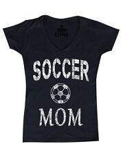 Soccer Mom Mother Women's V-Neck T-shirt Team Supporter Goal Football Tee