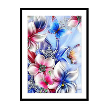 5D DIY Diamond Painting Cross Stitch Butterfly Flower Full Drill Embroidery Gift