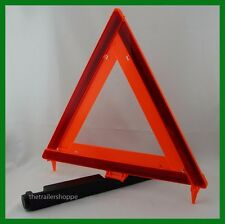Emergency Early Warning Reflective Orange Triangle Kit Set of 3 with Storage Box