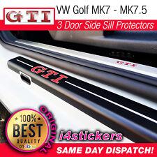 VW Golf Mk6 MK7 MK7.5  GOLF GTI Side Door Sill Protectors vinyl (3 door)