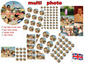 YOUR OWN PERSONALISED PHOTO EDIBLE WAFER & ICING CAKE TOPPERS / BIRTHDAY PARTY