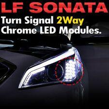 Head Lamp 2Way Turn Signal DRL LED Module W/ Chrome Cap HYUNDAI 2015-17 Sonata