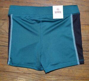 Shortie Shorts Juniors Compression Shorts So Athletic Short Green & Black