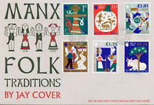 Isle of Man IOM 2018 FDC Manx Folk Traditions Christmas 6v Cover Cultures Stamps
