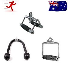 Cable Attachment Package-Chin triangle V bar+Single stirrup handle+Triceps Rope
