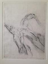 R. WINKLER (1986), nummerierte und signierte Lithografie, männlicher Akt