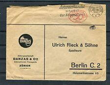 Zensurbrief Schweiz von Zürich nach Berlin - b3821