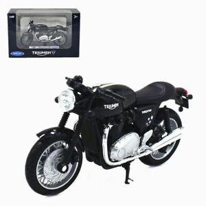 Welly Modèle réduit de moto Miniature TRIUMPH Thruxton 1200 1/18 NEU
