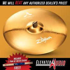 "Zildjian A Custom 21"" 20th Anniversary Ride Cymbal + FREE Vater Drum Sticks!"