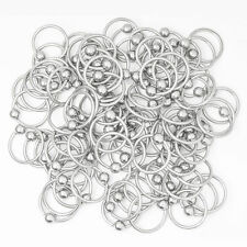 Package of 100 16G Captive Bead Rings - Perfect for Rook, Tragus, Nose
