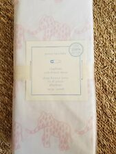 POTTERY BARN BABY ELEPHANT FITTED CRIB SHEET