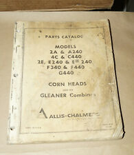1968 Allis-Chalmers Corn Heads Gleaner Combines Parts Catalog Manual D-92