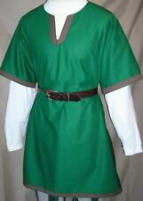 Medieval Viking Green Color Tunic For Armor Reenactment Without Sleeves