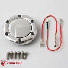 Billet Flashpower Horn Button for 6 Bolt Steering Wheel MoMo NRG Polished