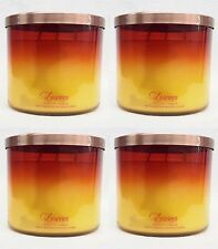4 Bath & Body Works Leaves 3-Wick Filled Candle 14.5