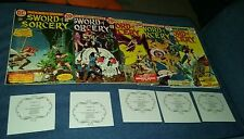 Sword of sorcery complete 1-5 Howard Chaykin signed coa fahfred the grey mouser