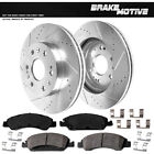 Front Drilled Rotors and Ceramic Brake pads For Chevy Tahoe Silverado GMC Sierra