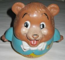 Vinatge Fisher Price Teddy Bear Musical Rolly Polly Pull Toy, 1969