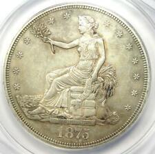 1875-CC Trade Silver Dollar T$1 - ANACS AU55 Details - Rare Carson City Coin!