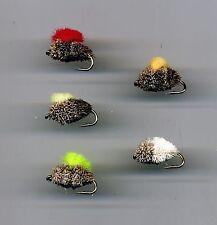 Carp Flies: 4 x Chum Mixer 1x Bread Crust   all size 8 (Code 533)