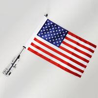 Universal Motorcycle American USA Flag pole Rack Mount For Harley Cruiser Custom