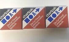 Lot Of 3 Chartpak Pressure Sensitive Die Cut Symbols Scrapbook Graphics Vintage