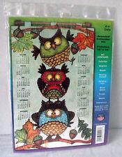 Owls Sequins Jeweled Calendar Kit Craft Beads 2015 Debra Jordan Bryan 4147 New